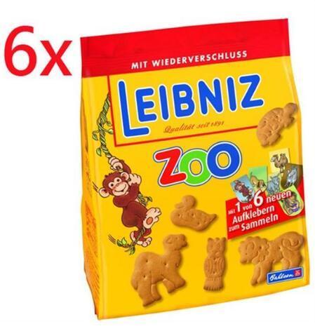 【德国BA】Leibniz 小麦黄油动物饼干/儿童饼干 6X125g 满78欧免邮