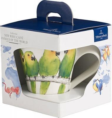 【德国EM】Villeroy & Boch 唯宝 时尚波浪动物系列 马克杯 鹦鹉款 350ml 礼盒装