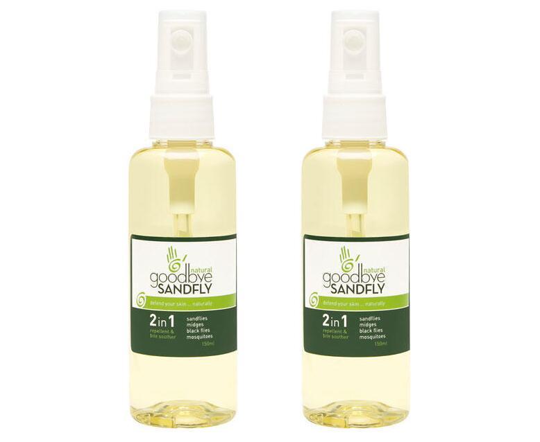 【2件包邮装】Goodbye Sandfly 防蚊 + 修复2合1喷剂 2x150ml 瓶  活动券后价:198元