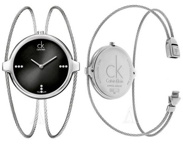 Calvin Klein Agile系列 女士黑面镶钻时尚腕表 K2Z2S11S 码后$75,约¥510