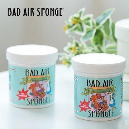 包邮包税!美国Bad Air Sponge 空气净化剂 400g*5罐 折后$61 95,约¥421,折合约¥84 罐