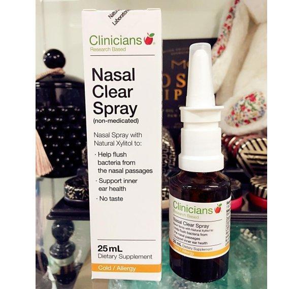 新西兰医生专业推荐:Clinicians天然无刺激鼻炎喷雾缓解鼻炎症状25ml*4瓶 包邮特价NZ$55 2 约68元 件
