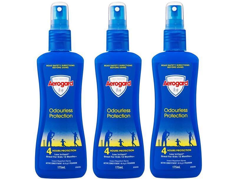 【3件包邮装】Aerogard 澳洲防蚊喷雾 3x175ml(无香型)  优惠价格:139元