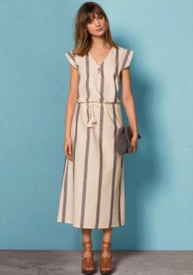 【法国LR】周年庆狂欢第二波:女士条纹连衣裙享好价!