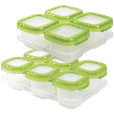 OXO Tot 奥秀 食品冷冻储存密封盒 绿色 6+4只装