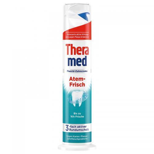 德国直邮 汉高Theramed 美白防护抗菌型牙膏 100ml 蓝色2+绿色2共4支套装包邮包税