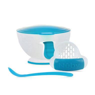 Nuby 努比婴儿辅食研磨器 研磨碗 白色 蓝色