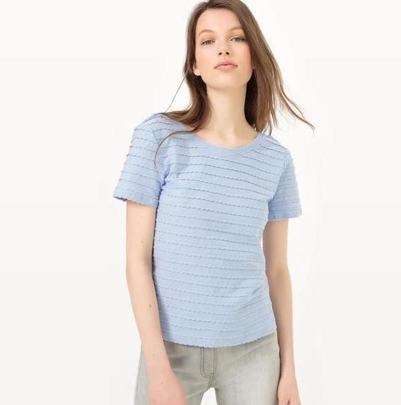 【法国LR】周年庆狂欢第二波:扇贝纹圆领T恤两件包邮!
