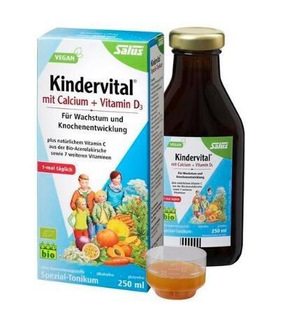 德国salus Kindervital 艾儿口服果蔬营养液儿童铁元 250ml 多种维生素钙 特价€12 99 约101元