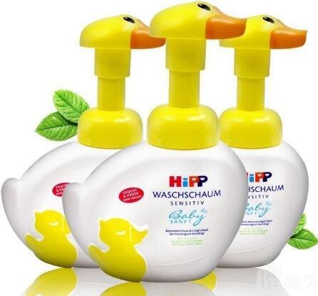 补货!Hipp喜宝小鸭子儿童泡泡洗手洗脸液 无泪配方 250ml*2个装 好价€7 9,约61元