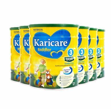 【送9纽 包邮包税】Karicare 可瑞康婴儿羊奶粉 3段 900g6罐