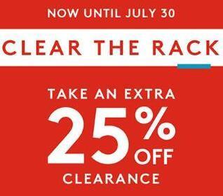 美国Nordstrom Rack精选夏季清仓大促 低至3折+额外75折