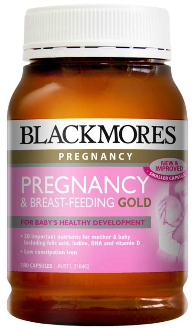 【特价】Blackmores 澳佳宝 孕期及哺乳营养黄金素胶囊 180粒