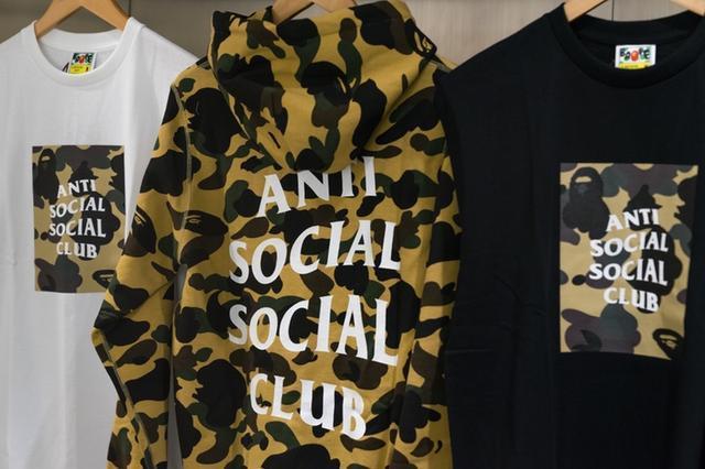 Anti Social Social Club x BAPE 联名系列独家发售