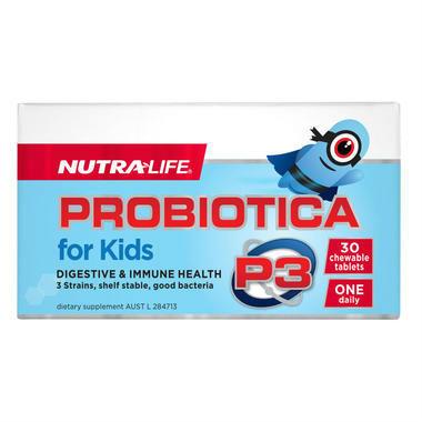 【新品】Nutralife Probiotica 儿童益生菌咀嚼片 30粒