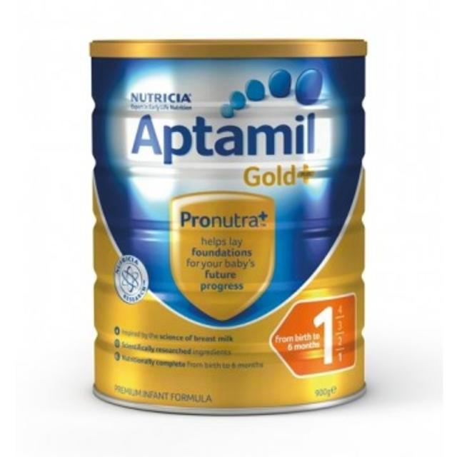 Nutricia Aptamil 澳洲新版爱他美金装奶粉(1段) 900g
