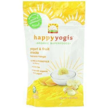 【美国Babyhaven】Happy Baby 禧贝有机水果溶豆 香蕉芒果味 1盎司 28g