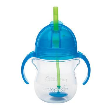 【美国Babyhaven】Munchkin 麦肯奇满趣健 婴儿学饮杯宝宝水杯防摔防漏吸管杯 7盎司  207ml 蓝色