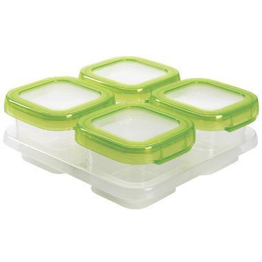 【美国Babyhaven】OXO Tot 奥秀儿童辅食冷冻保鲜存储盒 4盎司 绿色