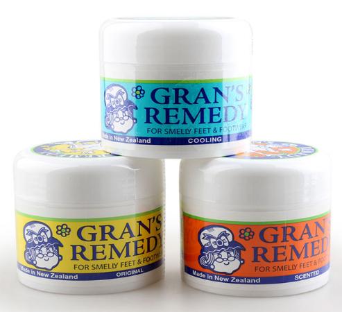 【3件包邮装】Gran& 039s remedy 老奶奶 神奇除脚臭鞋臭粉 350g 罐(原味+薄荷味+香味)