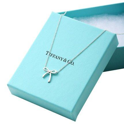 Tiffany&Co 蒂芙尼 蝴蝶结925银吊坠 特价1379元包邮包税