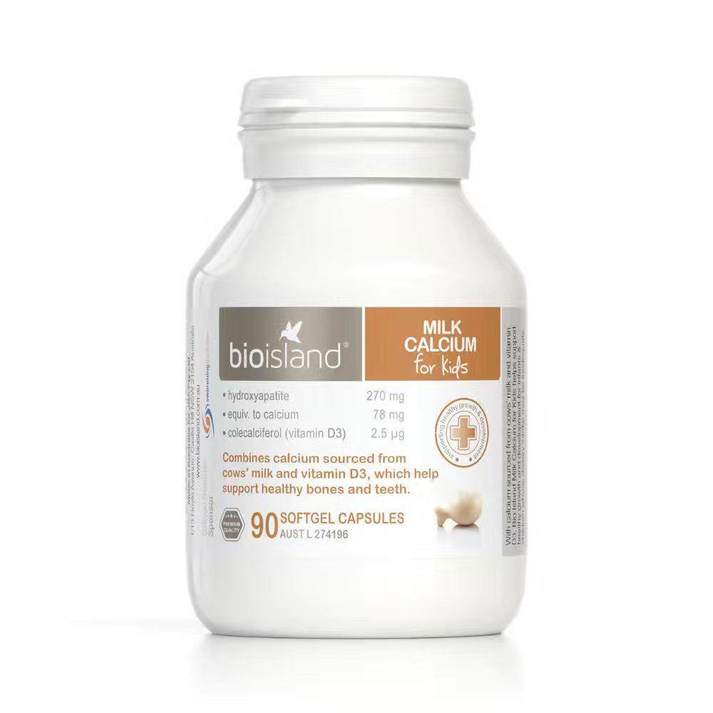 【新西兰KD】【凑单品】Bio Island 生物岛 婴幼儿乳钙 牛乳钙 90粒 (新)NZ$23 66 约¥115