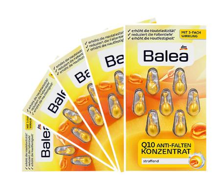 【5件包邮装】Balea 芭乐雅 Q10提拉紧致抗皱精华胶囊 57粒 盒