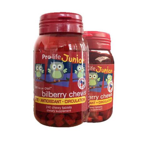【新西兰KD】【2件包邮装】Prolife 儿童蓝莓越橘护眼咀嚼片 240粒 NZ$51 32 约¥247