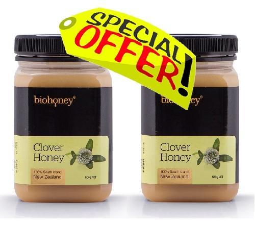 【新西兰PD】【热卖推荐】Biohoney 三叶草蜂蜜 500g 2瓶超值装 NZ$26 30  约¥126