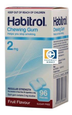 【新西兰PD】【热销单品】Habitrol 2mg 尼古丁戒烟口香糖(水果味)96颗 仅需NZ$19.90 /约¥95