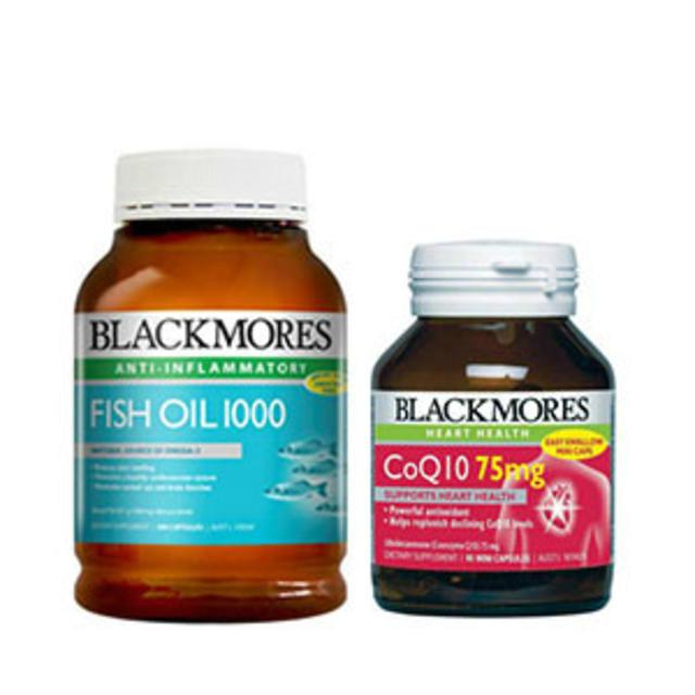 【限时包邮】超值套装|Blackmores 深海鱼油胶囊 400粒+Blackmores 辅酶Q10营养素 75mg 90粒