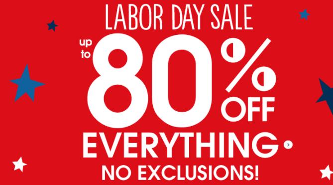 Gymboree官网有Labor Day劳工节全场低至2折促销