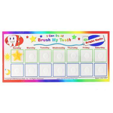 【美国Babyhaven】Kenson Kids &quotI Can Do It!&quot系列 宝宝按时刷牙奖励卡 一表含16格 分早晚