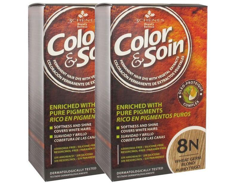 【2件包邮装】3 Chenes 三橡树 天然植物染发剂 2盒(8N小麦金) 优惠价格:165元