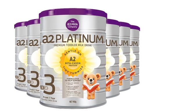 【6件包邮装】A2 白金系列 婴幼儿配方奶粉 3段 6x900g/罐 优惠价格:1550元