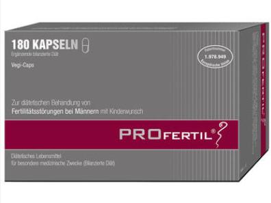 【德国DC】【包邮到手,用码(DC8E)再减8欧】Profertil 提高精子活力男士备孕保健胶囊 180粒
