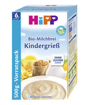 【德国DC】Hipp 喜宝 宝宝高钙高铁有机小麦牛奶米粉 米糊 500g