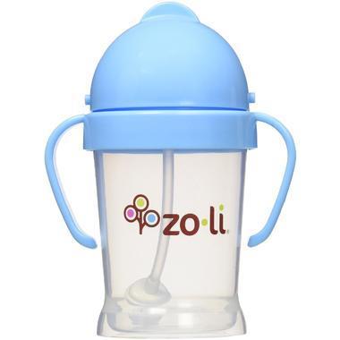 【美国Babyhaven】Zoli 儿童重力球吸管杯 婴幼儿学饮杯 带手柄6盎司 170ml  蓝色
