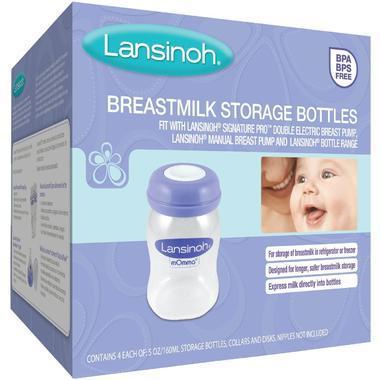 【美国Babyhaven】【品牌专场3件9折】Lansinoh 兰思诺 母乳储存瓶 4个