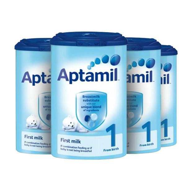 【精品推荐】【4罐包邮装】Aptamil 爱他美 婴儿配方奶粉1段(0-6m) 900g