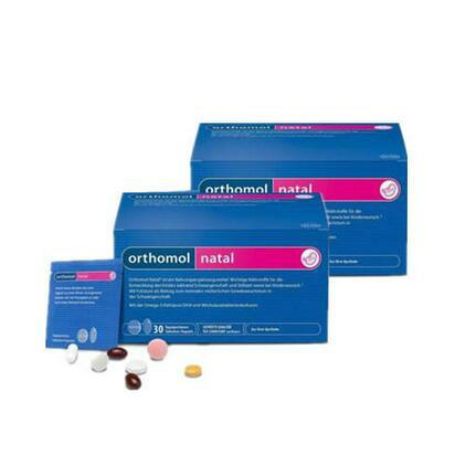 【德国BA】Orthomol 奥适宝Natal孕期及产后综合营养片 胶囊组合装 两盒装 8折
