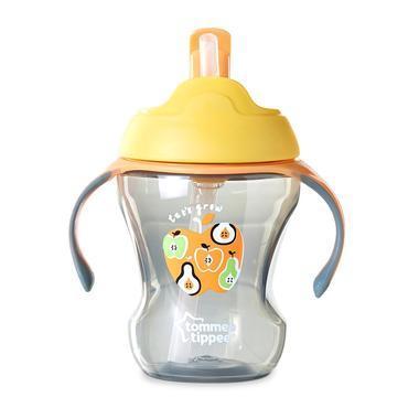 【美国Babyhaven】Tommee Tippee 汤美天地 新生儿训练喝水吸管杯 8盎司(234 16毫升) 黄色