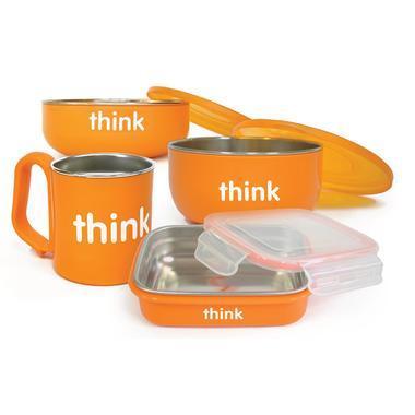 【美国Babyhaven】Thinkbaby 辛克宝贝 儿童餐具套组 不含双酚A 橙色