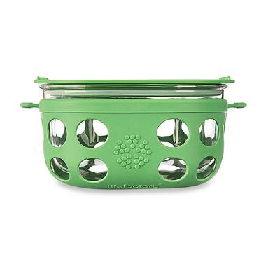 【美国Babyhaven】Lifefactory玻璃饭盒环保耐热食品盒4cup 960ml 草绿色