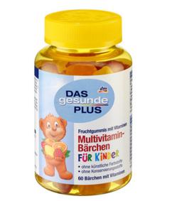 【德国DC】DM Das gesunde Plus 儿童小熊造型多种维生素软糖 4岁+