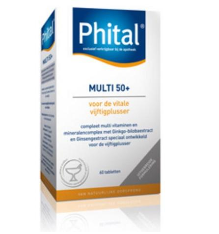 【荷兰DOD】3件包邮:Phital 复合维生素矿物质营养片(50岁以上) 50片