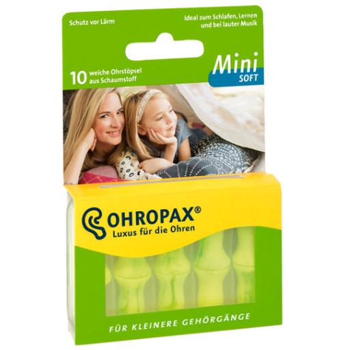 【德国BA】Ohropax mini soft 迷你超软型防噪音隔音专业睡眠耳塞 10个装 5对