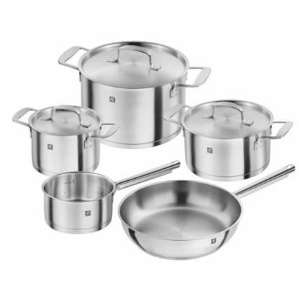 【德国BA】Zwilling 双立人base系列不锈钢汤煎锅炒锅5件套装锅具