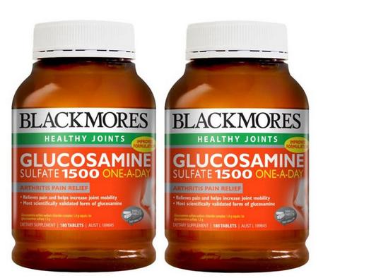 【2件包邮装】Blackmores 澳佳宝 1500mg 维骨力关节灵 2x180片 瓶 优惠价格:339元