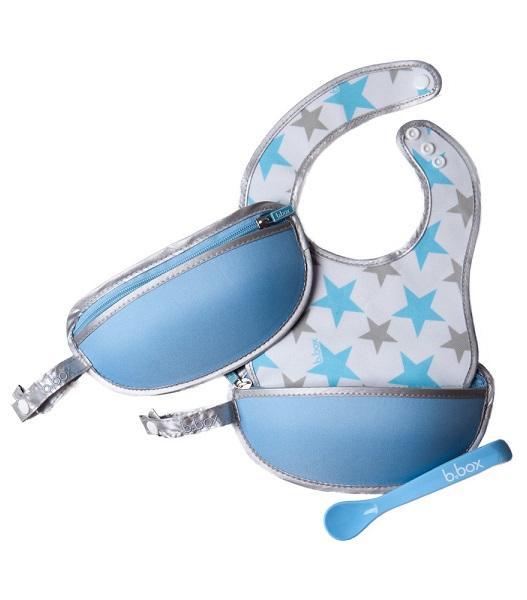 【新西兰PD】【九折优惠】B Box 硅胶勺子与围兜围嘴套装 便携拉链折叠 2件套仅需NZ$21 99 约¥1